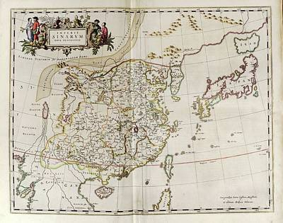 Map Of China Poster by Library Of Congress, Geography And Map Division