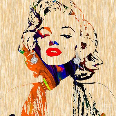 Marilyn Monroe Diamond Earring Collection Poster