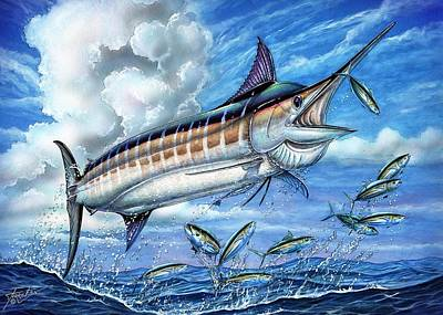 Marlin Queen Poster by Terry Fox