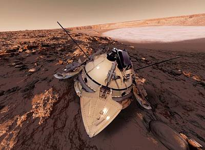 Mars 3 Probe Poster
