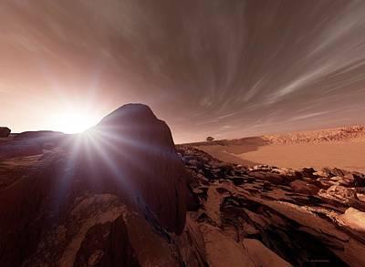 Mars Exploration Poster by Detlev Van Ravenswaay