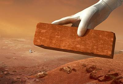 Martian Settlement, Artwork Poster by Science Photo Library