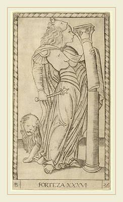 Master Of The E-series Tarocchi Italian Poster by Litz Collection