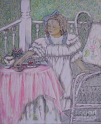 Mckenna's Tea Party Poster by Linda Simon