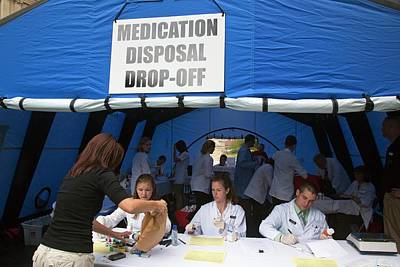 Medication Disposal Centre Poster by Jim West
