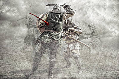 Poster featuring the photograph Medieval Battle by Jaroslaw Grudzinski