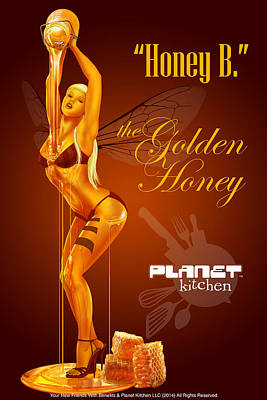 Meet Honey Bee Poster by YNFWB Your new friends with BENEFITS