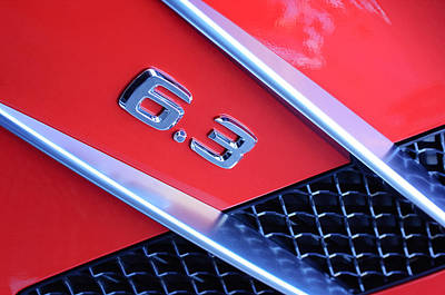 Mercedes-benz 6.3 Gullwing Emblem Poster by Jill Reger
