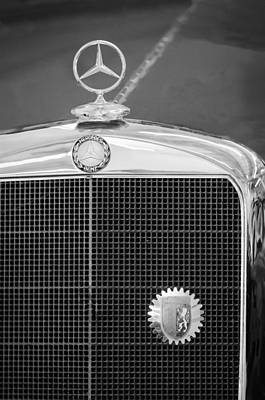 Mercedes-benz Hood Ornament - Emblem Poster by Jill Reger