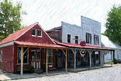 Merchants Row II - Perryville Ky Poster by Thia Stover