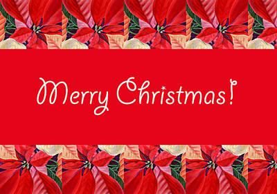 Merry Christmas Poster by Irina Sztukowski