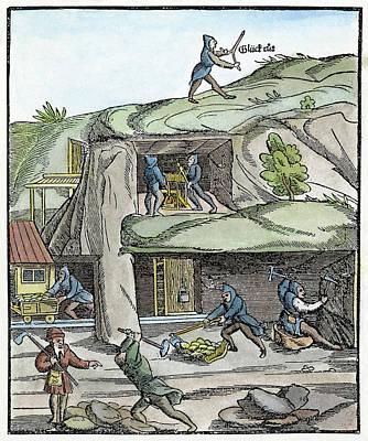 Mining, 16th Century Poster