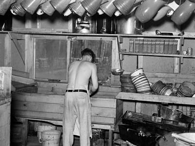 Minnesota Lumber Camp, 1937 Poster