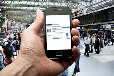 Mobile Phone Use Poster by Science Photo Library