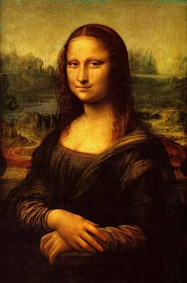 Poster featuring the painting Mona Lisa  by Leonardo da Vinci