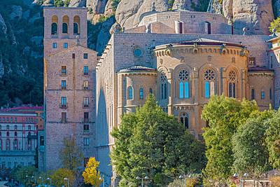 Montserrat Monastery Near Barcelona Spain Poster