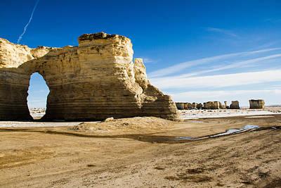 Monument Rocks Of Kansas Poster by Ellie Teramoto