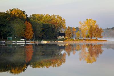 Morning At Lake Emily Poster