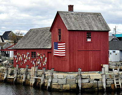 Poster featuring the photograph Motif  Rockport Ma by Caroline Stella