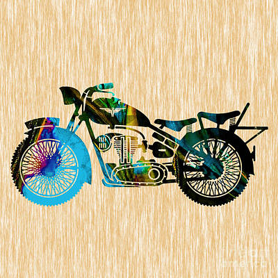 Motorcycle Painting Poster