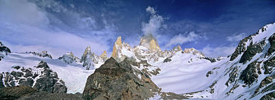 Mount Fitz Roy Seen From Laguna De Los Poster by Martin Zwick