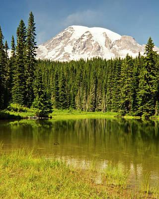 Mount Rainier, Reflection Lakes, Mount Poster