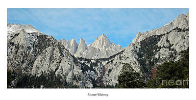 Mount Whitney Poster by Twenty Two North Photography