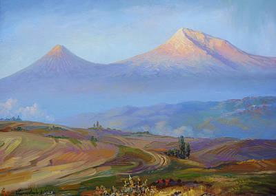 Mountain Ararat In The Early Morning Poster by Meruzhan Khachatryan