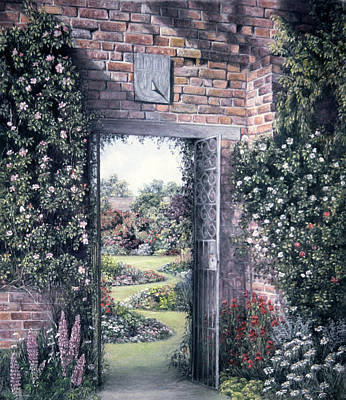 Poster featuring the painting My Secret Garden by Rosemary Colyer