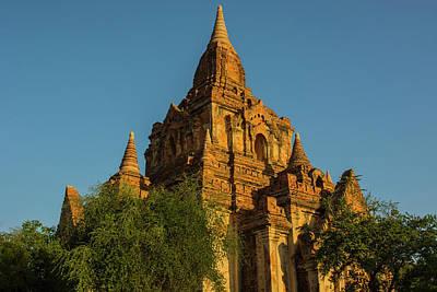 Myanmar Bagan Red Brick Temple Glows Poster
