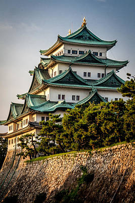 Nagoya Castle Poster by Gary Fossaceca