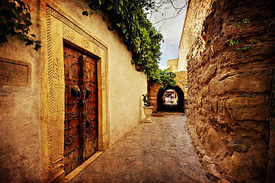 Poster featuring the photograph Narrow Street In Souk / Hammamet by Barry O Carroll