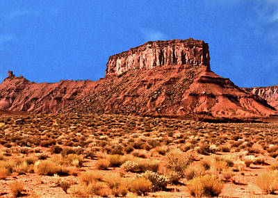 Poster featuring the painting National Navajo Tribal Park by Bob and Nadine Johnston