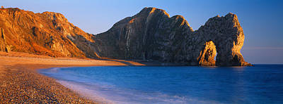 Natural Arch On The Beach, Durdle Door Poster by Panoramic Images