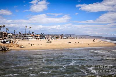 Newport Beach In Orange County California Poster by Paul Velgos
