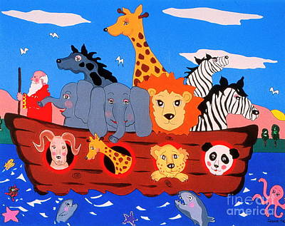 Noah's Ark Poster by Joyce Gebauer