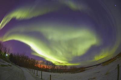 Northern Lights, Edmonton, Alberta Poster by Carson Ganci