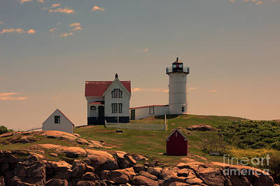 Nubble Light Poster by K Hines