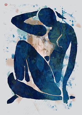 Nude Pop Art Paper Cut Poster Poster