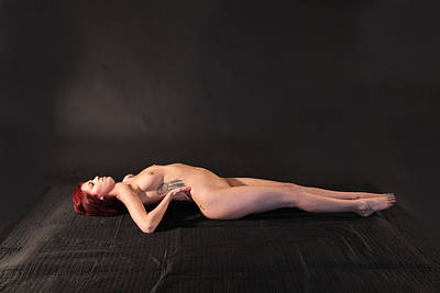 Nude Yoga- Fish Pose Poster by Stephen Carver