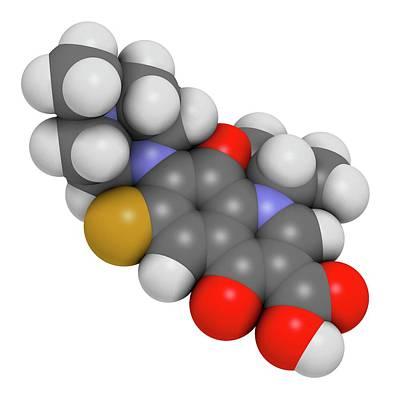 Ofloxacin Fluoroquinolone Antibiotic Drug Poster by Molekuul