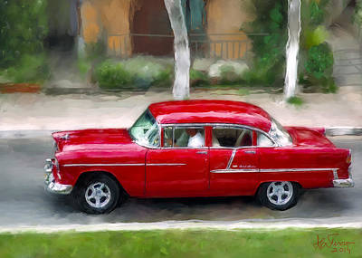 Poster featuring the photograph Red Bel Air by Juan Carlos Ferro Duque