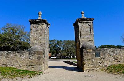 Old City Gates Of St. Augustine Poster