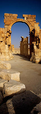 Old Ruins On A Landscape, Palmyra, Syria Poster