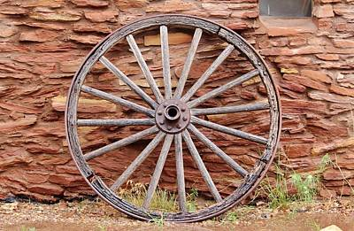 Old Wagon Wheel 2 Poster