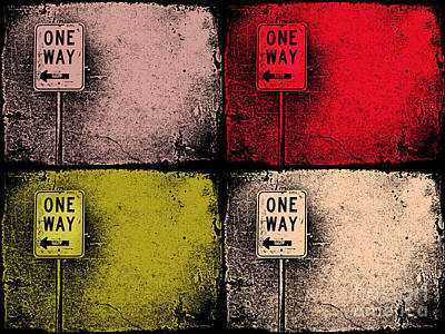 One Way Street Poster by Tara Turner