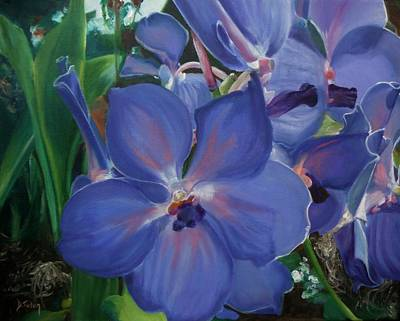Orchids Poster by Donna Tuten