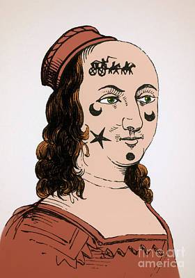 Ornamental Patches On Face 17th Century Poster by Photo Researchers