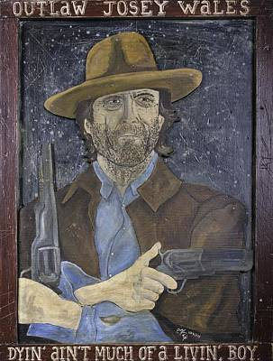 Poster featuring the painting Outlaw Josey Wales by Eric Cunningham
