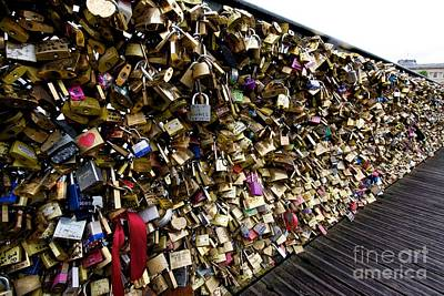 Padlocks On The Pont Des Arts. Paris. France Poster by Bernard Jaubert